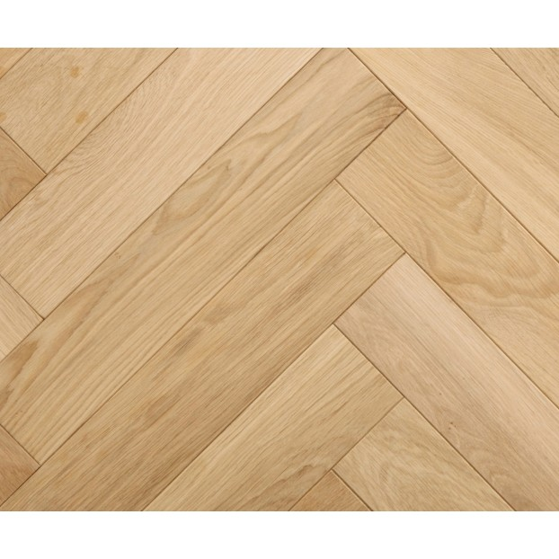 15/4 x 120 x 600  Engineered Oak Herringbone Unfinished | Micro Bevelled |Prime class=