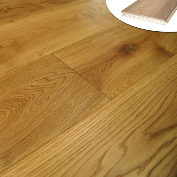 220mm Classic grade Oak | 20/6 Engineered collection | Brushed & Oiled class=