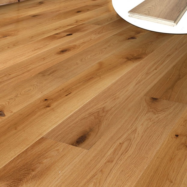 190mm UV Lacquered Oak | 20/6 Engineered collection | Natural class=