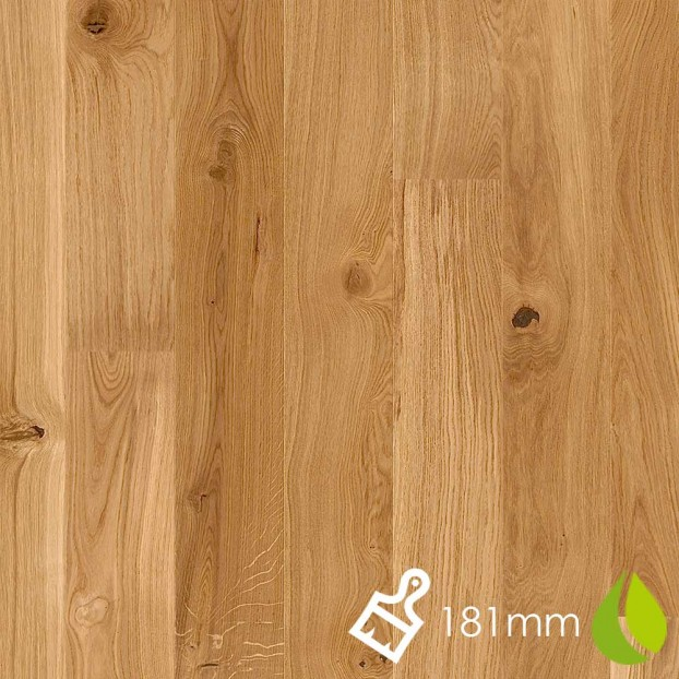 181mm Brushed Oak Vivo | Boen Microbevel Board | Live Natural class=