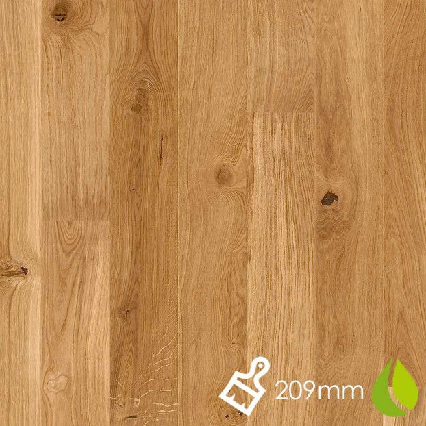 209mm Brushed Oak Vivo | Boen Microbevel Castle | Live Natural class=