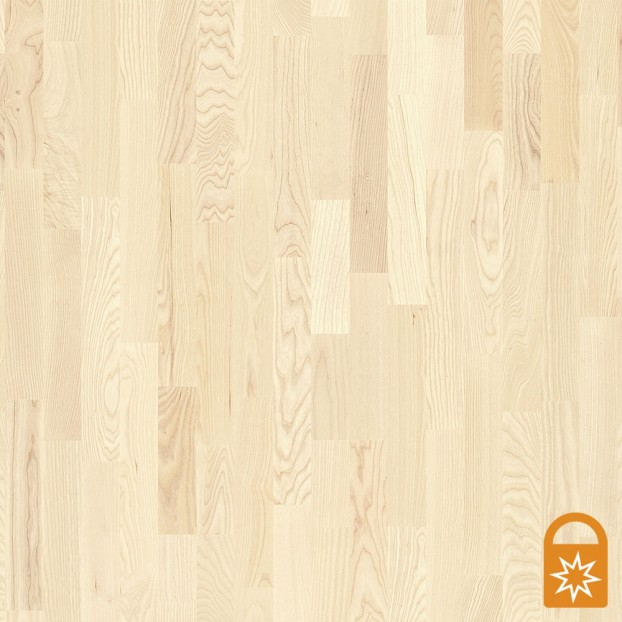 Ash Andante White | Boen 3-Strip Engineered | Live Matt class=