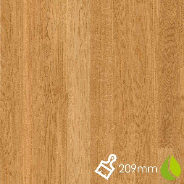 209mm Brushed Oak Andante | Boen Microbevel Board | Live Natural class=