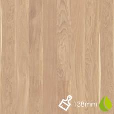 138mm Brushed Oak Andante White | Boen Microbevel Board | Live Natural