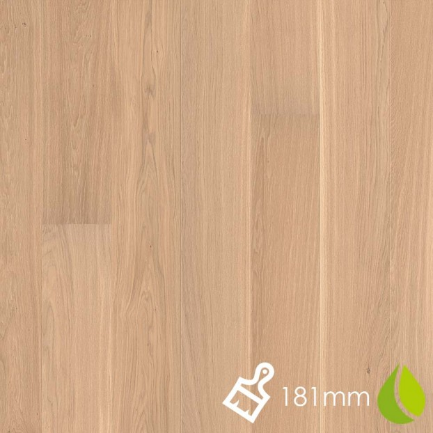 181mm Brushed Oak Andante White | Boen Microbevel Board | Live Natural class=