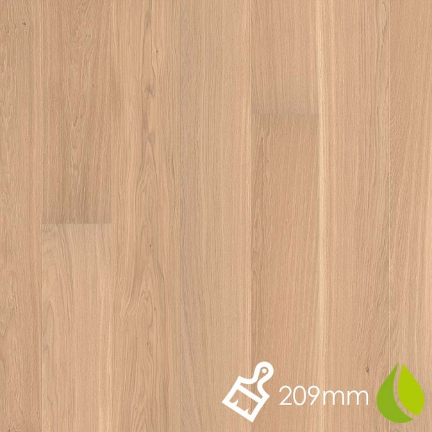 209mm Brushed Oak Andante White | Boen Microbevel Castle | Live Natural class=