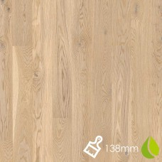 138mm Brushed Oak Animoso White | Boen Microbevel Board | Live Natural