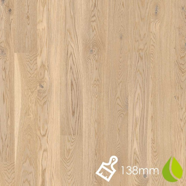 138mm Brushed Oak Animoso White | Boen Microbevel Board | Live Natural class=
