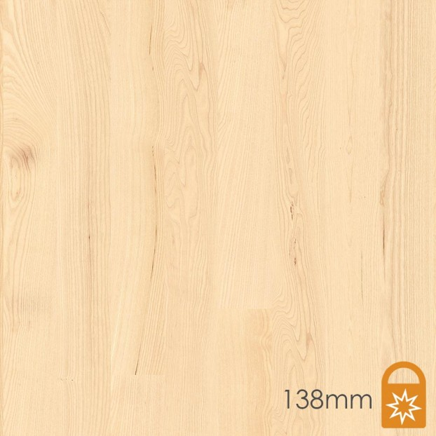 138mm Ash Andante White | Boen Square-Edge Board | Live Matt class=