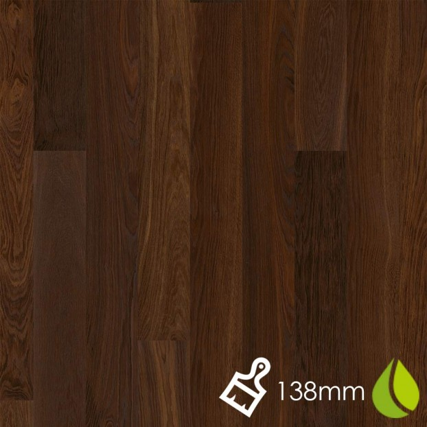 138mm Brushed Oak Smoked Andante | Boen Microbevel Board | Live Natural class=