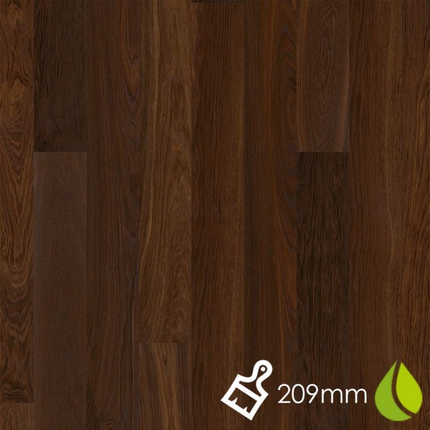 209mm Brushed Oak Smoked Andante | Boen Microbevel Castle | Live Natural class=