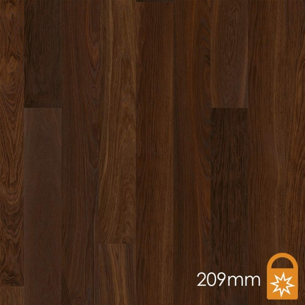 209mm Oak Smoked Andante | Boen Microbevel Castle | Live Matt class=