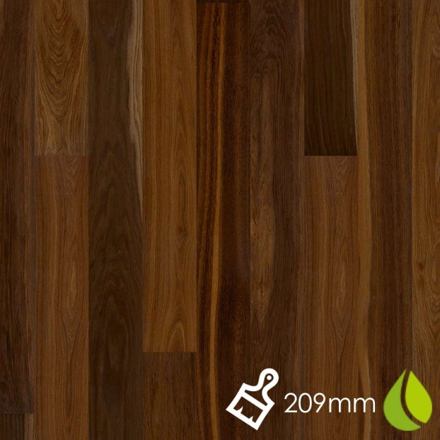 209mm Brushed Oak Smoked Marcato | Boen Microbevel Castle | Live Natural class=
