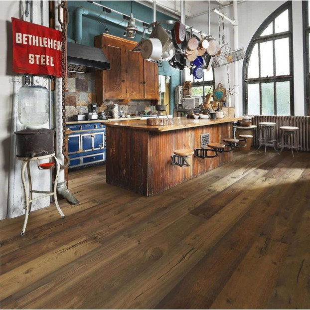 Castillo Oak 1-Strip | Kahrs Supreme Boards | Smoked Brushed Natural Oil class=