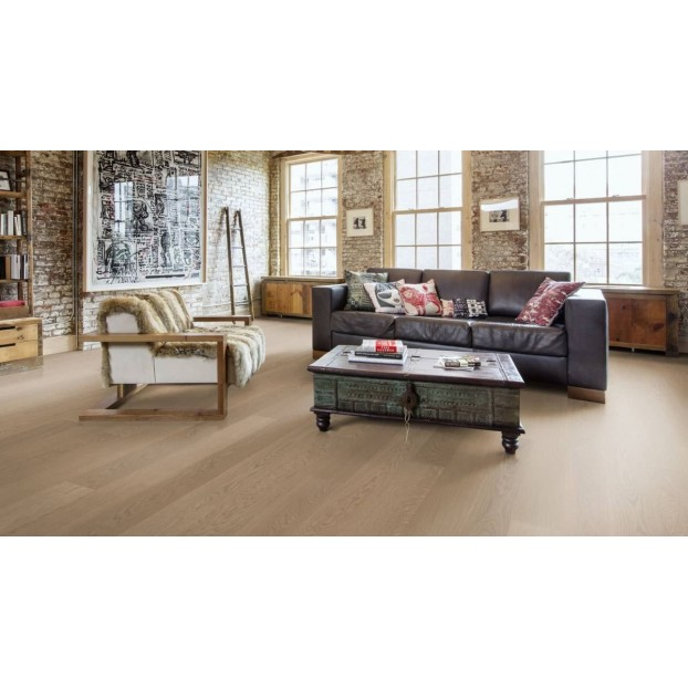 Oak Prague 1-Strip Oil | Kahrs Original Boards | Grey brushed Ultra Matt Lacquer class=
