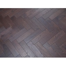 Engineered Herringbone 18/3x80x300mm Walnut Stain Brushed Matt Lacquer