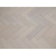 Engineered Herringbone 18/3x80x300mm White Brushed Matt Lacquer