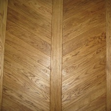 535x97x9mm Hungarian style Oak | Solid Chevron Parquet Overlay | Prime