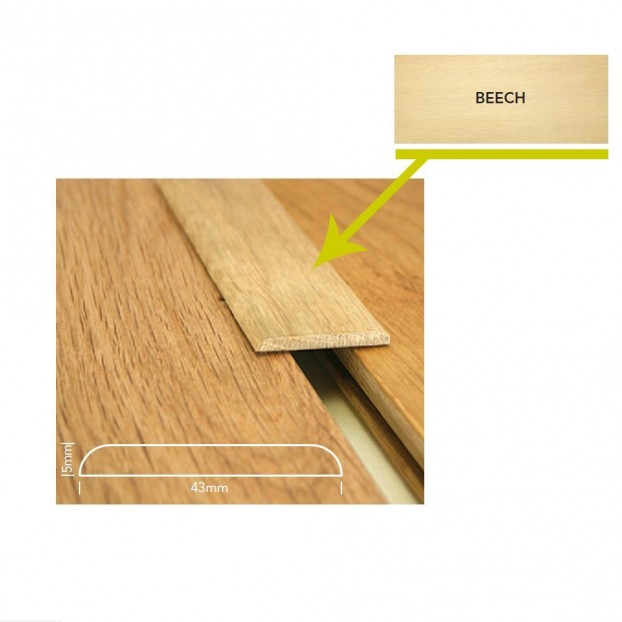 5mm Unfinished Level Threshold   Sectino Mouldings   2.4m class=
