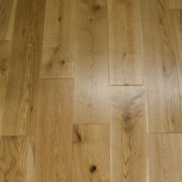 125mm Lacquered Solid Oak | 18mm Collection | Rustic class=