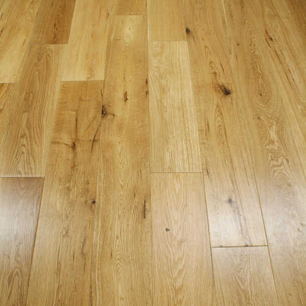 90mm Lacquered Solid Oak | 18mm Collection | Rustic class=