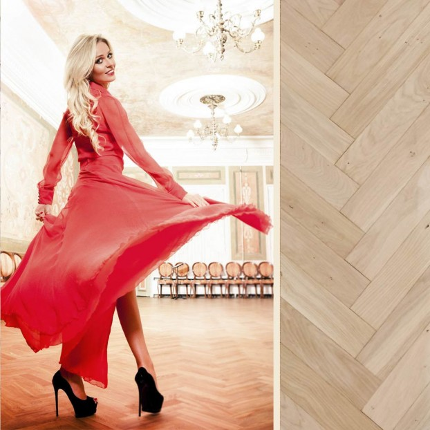 Waltz Unfinished Oak | Step In Time Parquet | Natural class=